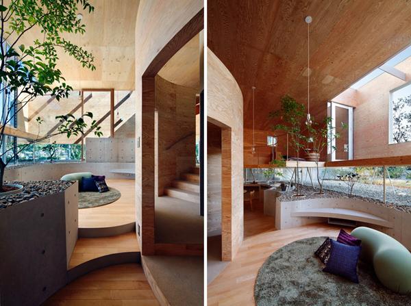 slika 1 najudobnije je u prirodnom UID Architects: Koštičava kuća u Okajami u Japanu