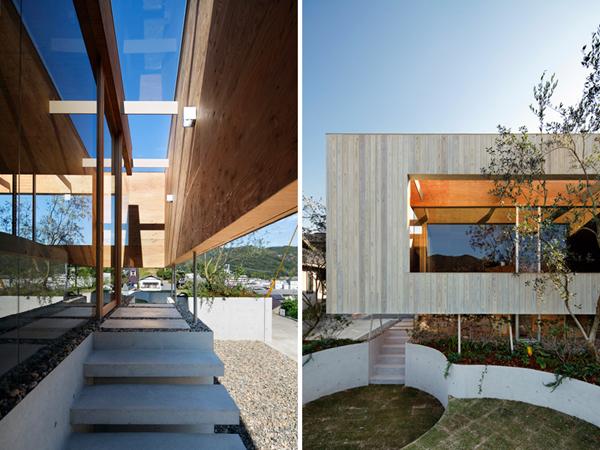 slika 2 zanimljiv dotok svetla UID Architects: Koštičava kuća u Okajami u Japanu