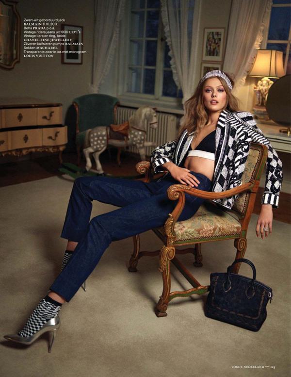 FridaVogueNL3 800x1036  Vogue Netherlands: Džins u januaru