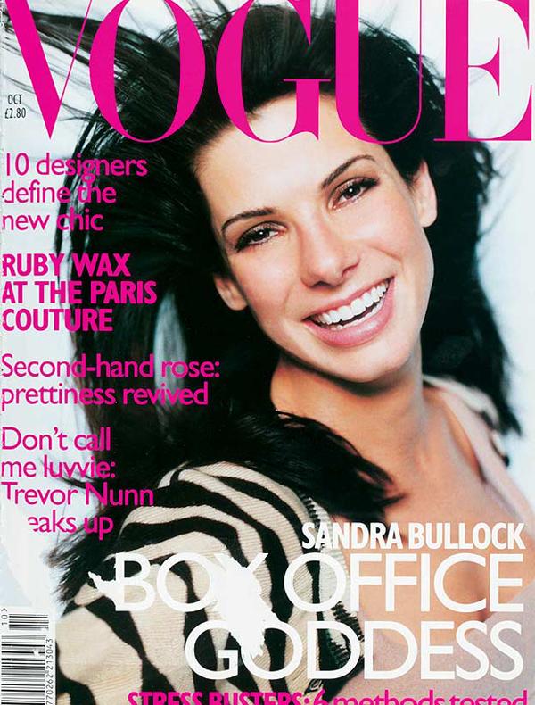 VoguecoverOct1996 E XL Moda na naslovnici: Sandra Bullock najplaćenija glumica svih vremena