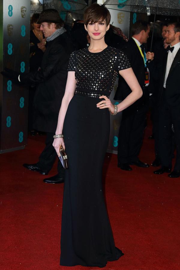 ahathaway v 10feb13 getty b Fashion Police: BAFTA Awards 2013