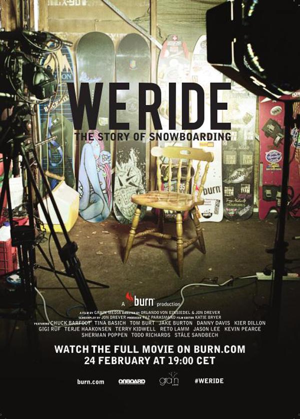 "burn We Ride Digital Premiere Flyer 13 02 19 Online premijera filma ""We Ride"": The Story of Snowboarding održava se večeras!"