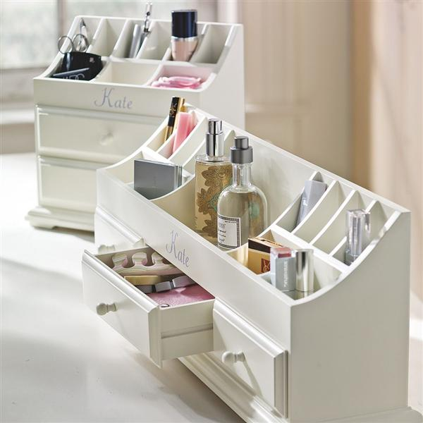 compact make up organizer with vintage style Sedam lakih načina da organizujete šminku