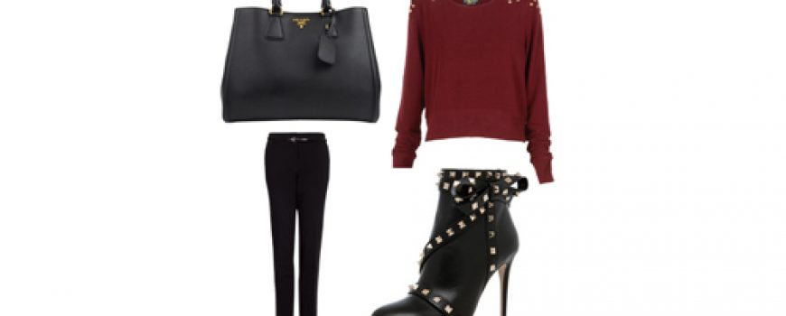 Look of the Day: Crna i bordo