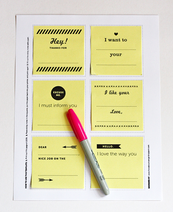 diy printable post its 10 najboljih blogova o dizajnu