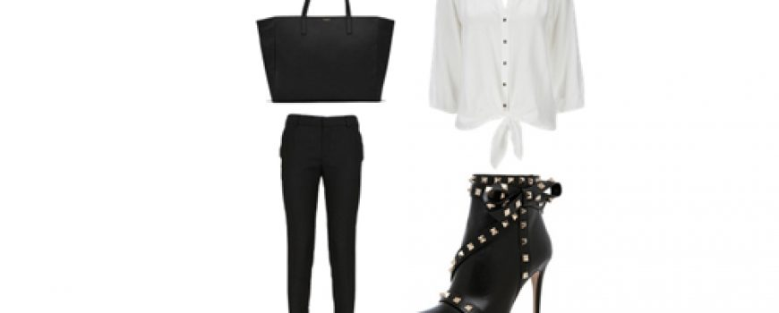Look of the Day: Crna i nitne
