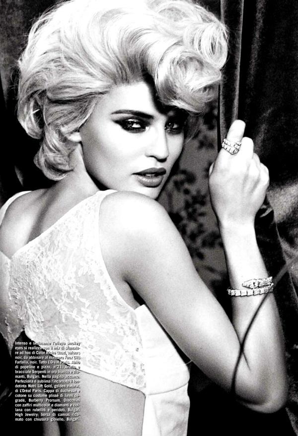 slika 140 Vogue Italia: Bianca Balti u duhu starog Holivuda