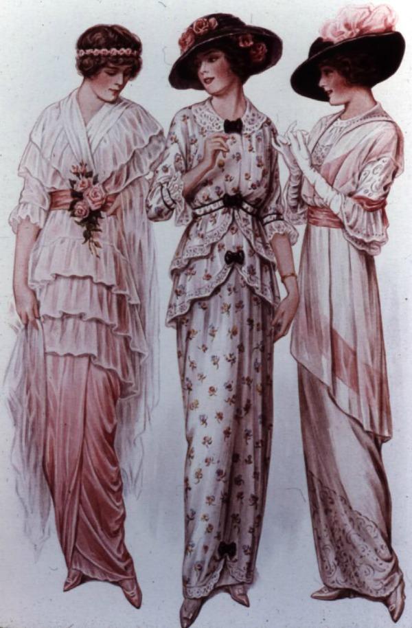 slika 434 Istorija mode: 1900 1910. godine