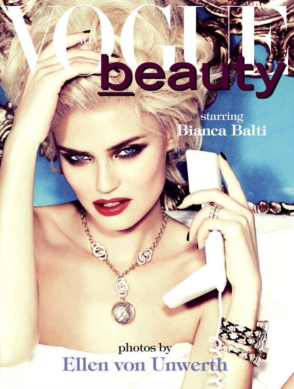 slika 522 Vogue Italia: Bianca Balti u duhu starog Holivuda