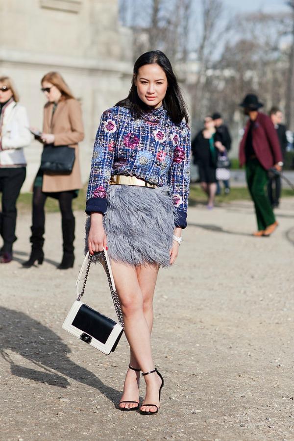 Šik suknja Moda na ulicama Pariza