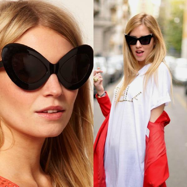 2 Naočare mačkastog oblika Trend 2013: Upadljive naočare za sunce