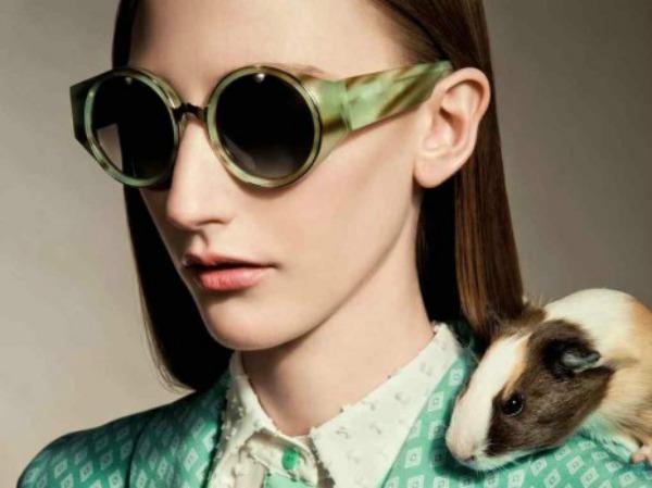 6 Zelene okruge naočare Trend 2013: Upadljive naočare za sunce