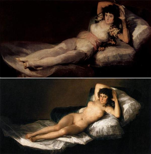 Goja Obucena Maja i Naga Maga Srećan rođendan, Francisco Goya!