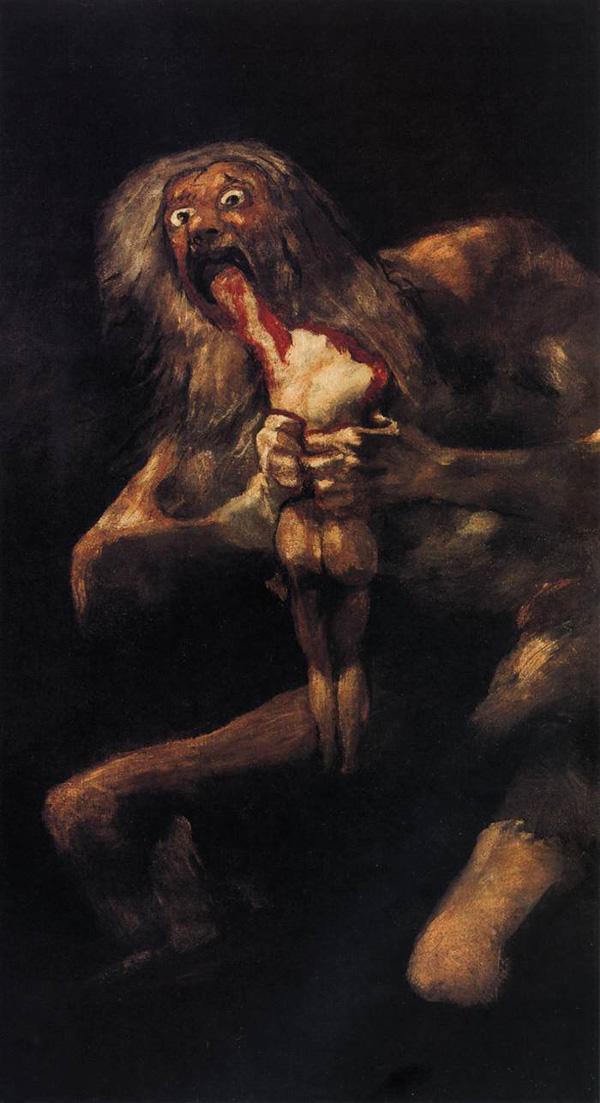 Goja Saturn prozdire svoje dete Srećan rođendan, Francisco Goya!