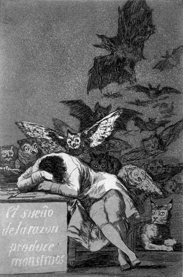 Goja Usnuli razum stvara cudovista Srećan rođendan, Francisco Goya!