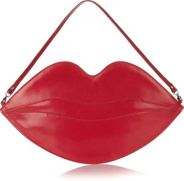 Jarko crvena ta¹nica u obliku usana Neodoljive ručne torbice