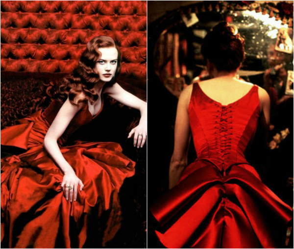 Nikol Kidman u crvenoj haljini The Best Fashion Moments: Moda zanosne kurtizane