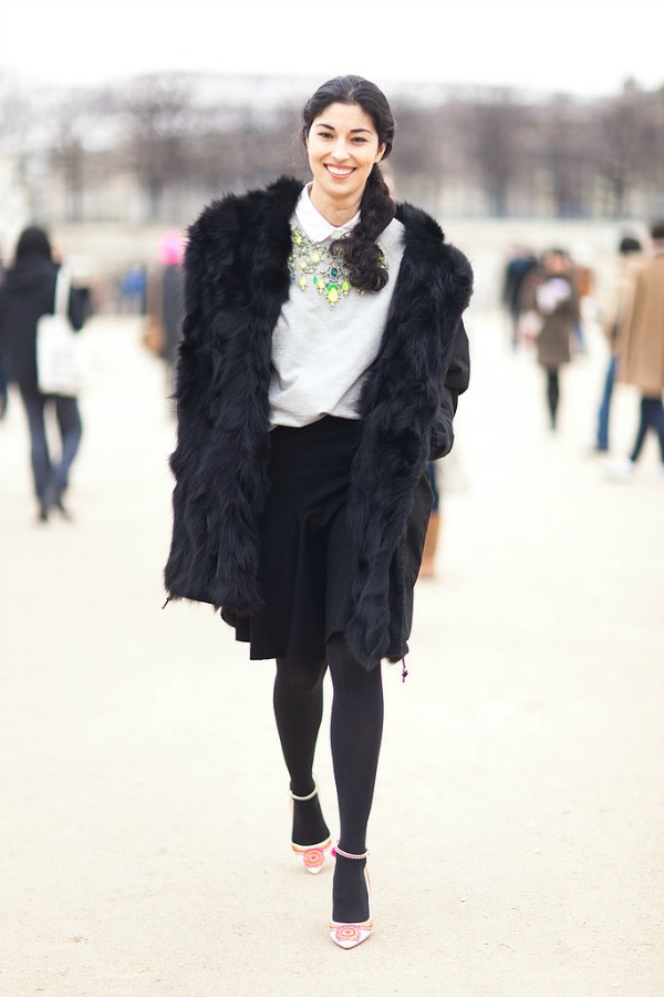 Ogromne ogrlice su u modi Moda na ulicama Pariza