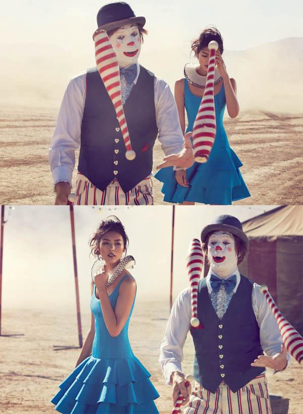 """Slika 93 """"Vogue Australia"""": Putovanje sa cirkusom"""