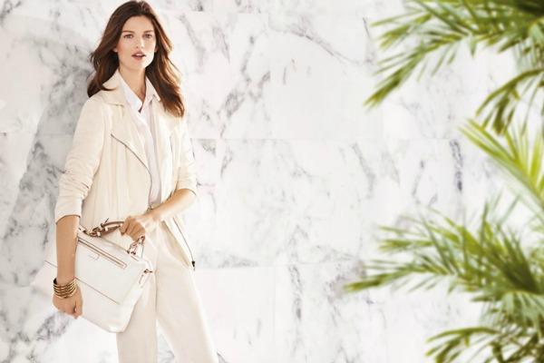 Slojevito u belom Uterque: Elegantni spoj bele i bež