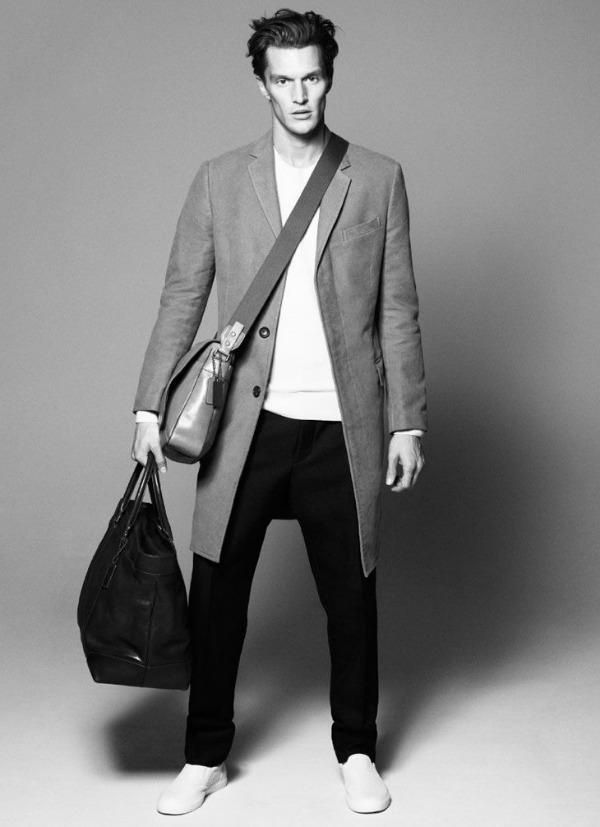 Velika trendi muska torba Coach: Luksuzne kožne torbe