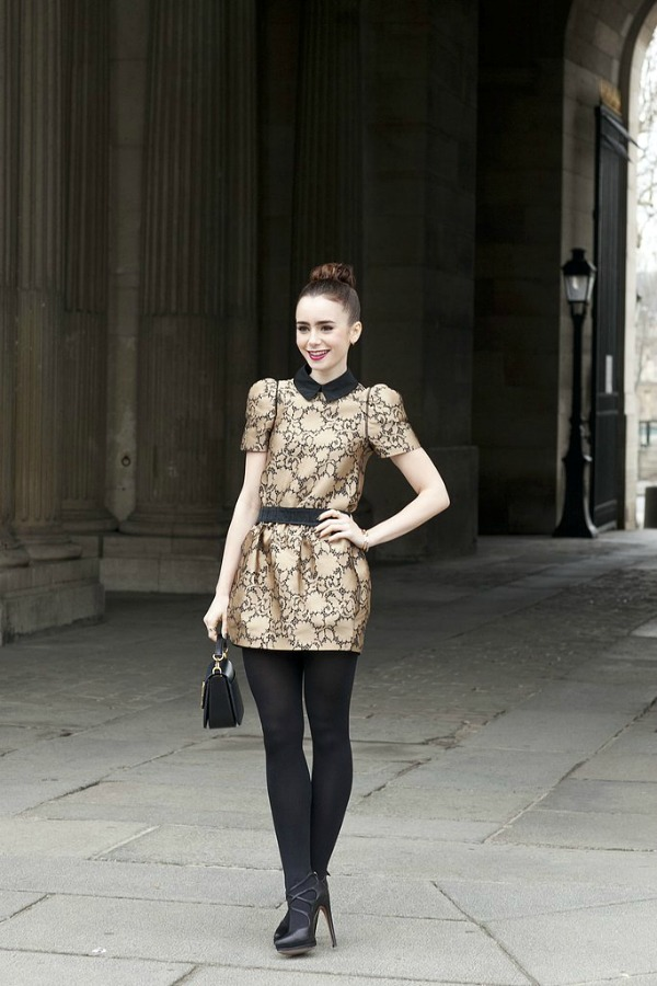 Zlatna dama Moda na ulicama Pariza