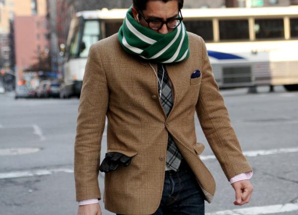 Šal Muška moda: Pruge i prugice