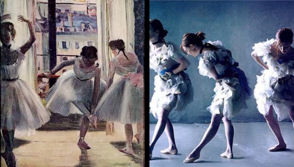"""""""Balerine"""" od Edgarda Dege Slike pretočene u fotografije"""