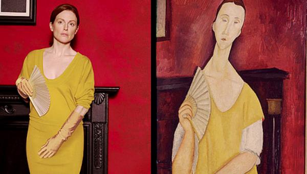"""""""Devojka sa lepezom""""od Amedea Modiljanija Slike pretočene u fotografije"""