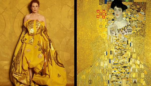 """""""Portret Adele Bloh Bauer"""" od Gustava Klimta Slike pretočene u fotografije"""