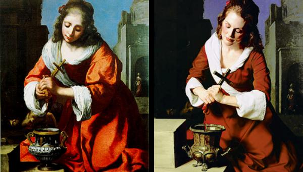 """""""Sveti Praksidis"""" od Johanesa Vermera Slike pretočene u fotografije"""