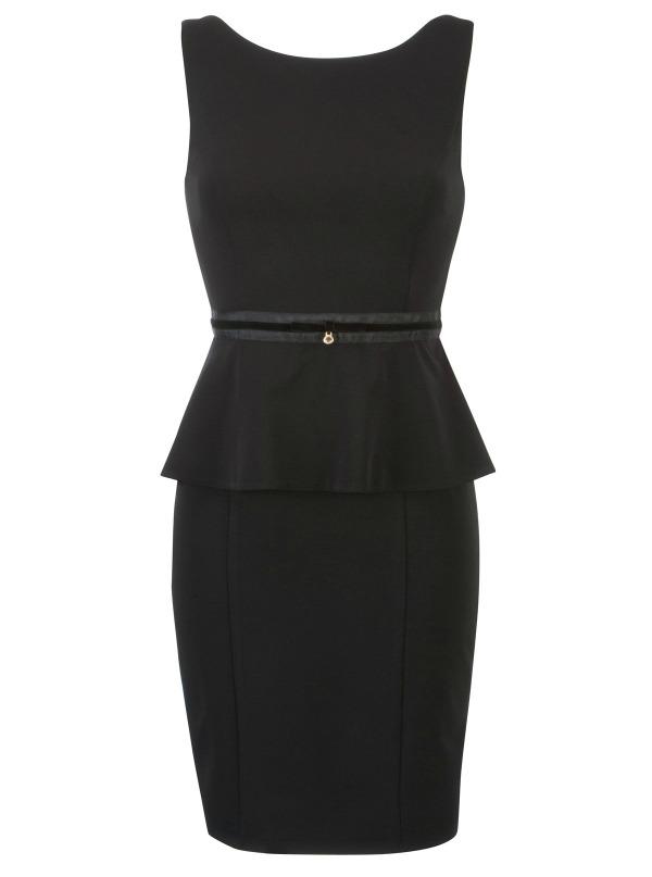 3 peplum Najlepše crne haljine