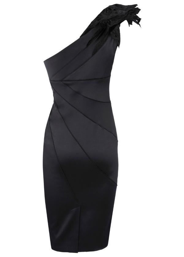 6 jedno rame Najlepše crne haljine