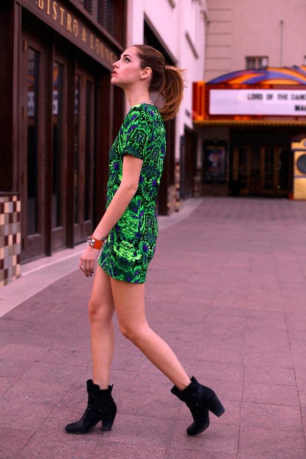 Chiara Ferragni Kako kombinovati neon boje