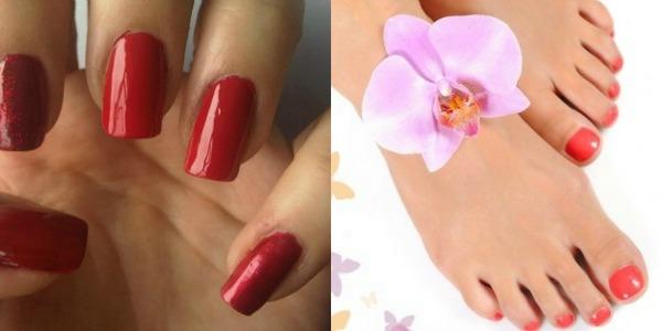 Crveno narandžasti nokti Zabavne kombinacije lakova za ovo proleće