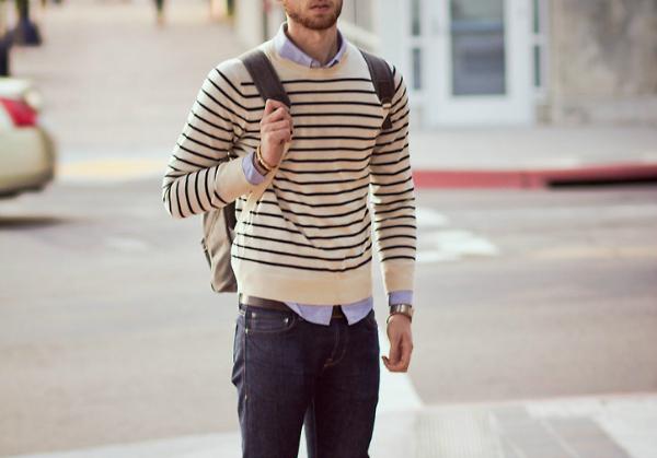Džemper Muška moda: Pruge i prugice