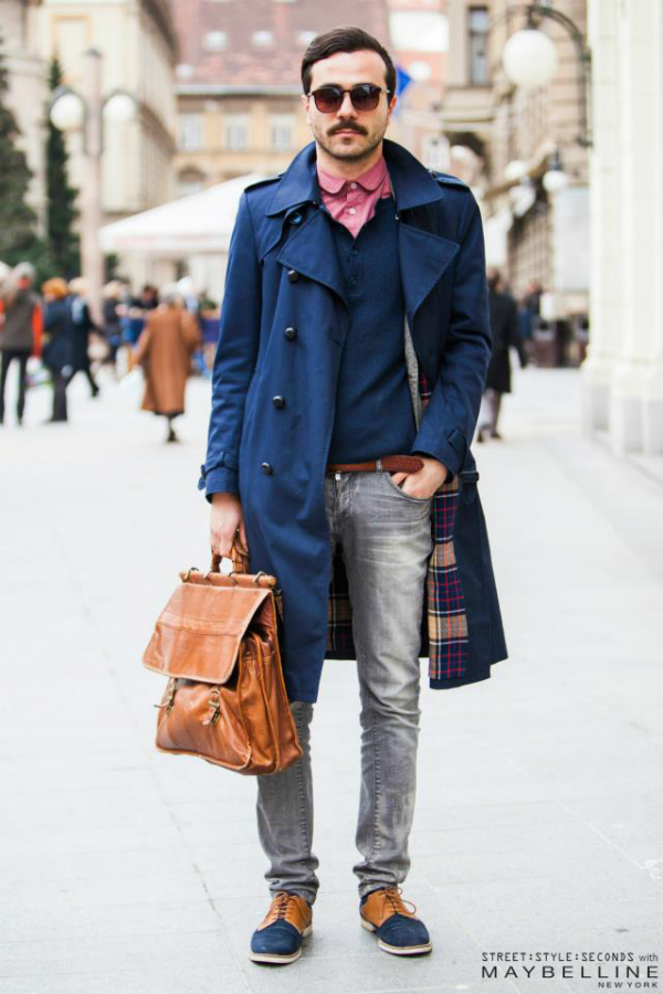 Decko u plavom kaputu i sa naocarima Street Style: Inspirativni Zagrepčani dočekali proleće