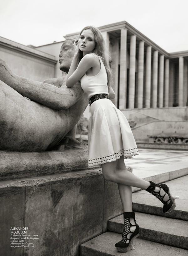 "Eva Dauni3 ""Elle Romania"": Romantika i nežnost u ""gradu svetlosti"""