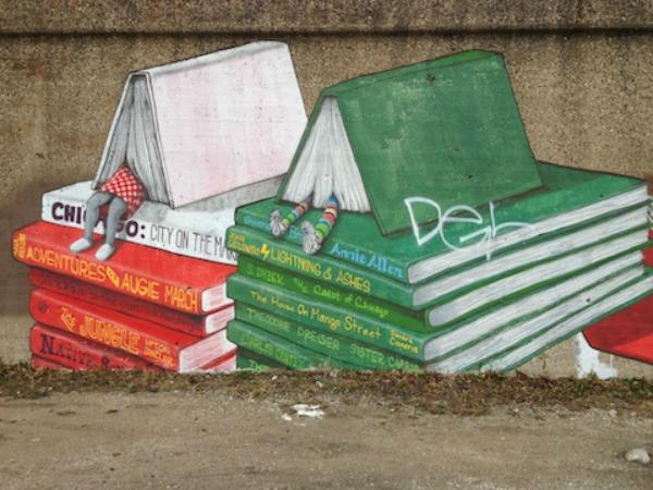Književna ulična umetnost u Čikagu Ulični lepotani