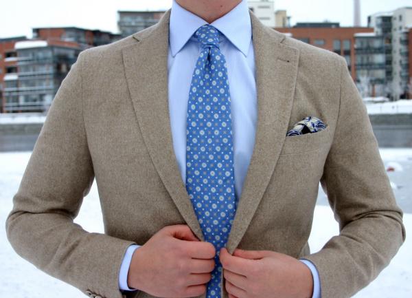 Krem sako Muška moda: Sve nijanse plave