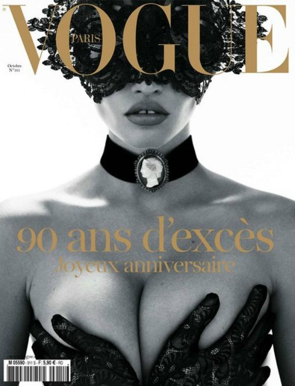 """Lara Stonena naslovnici jubilarnog izdanja za 90 ti rodjendan Vogue Moda na naslovnici: Provokativna rođendanska naslovnica magazina """"Vogue"""""""