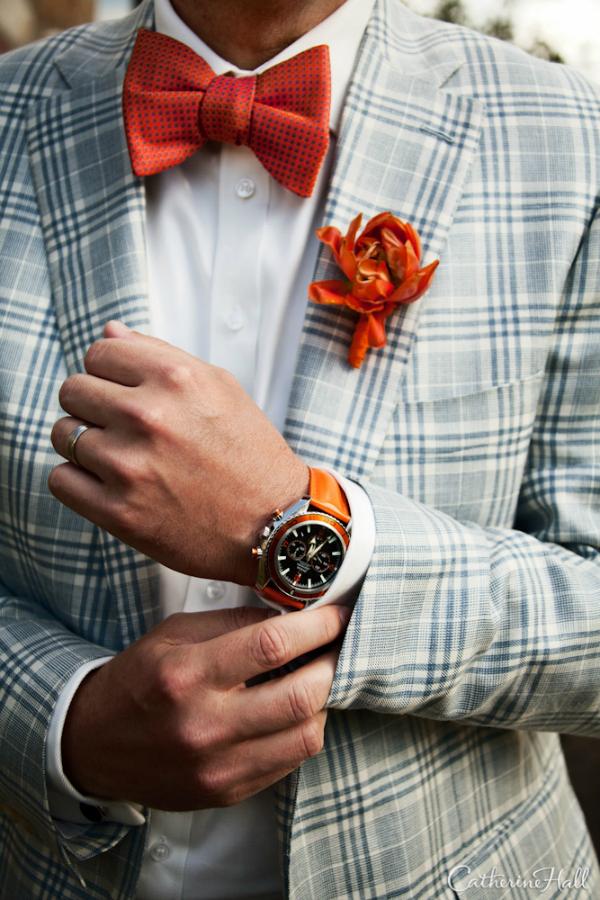 Leptir mašna Muška moda: Vesela narandžasta