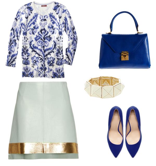Look27 Look of the Day: Ženstveni u plavoj i beloj boji