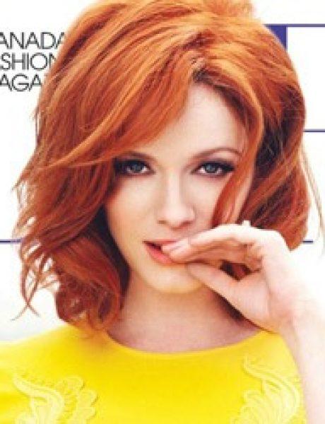 """Modni zalogaj: Retro Christina za magazin """"Flare"""""""