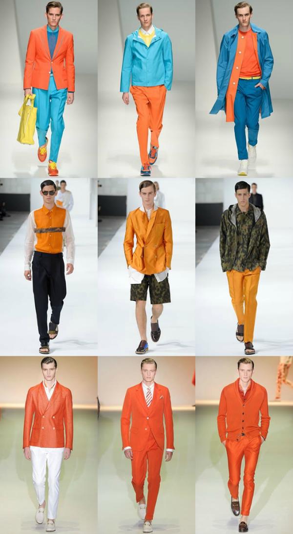 Na reviji Muška moda: Vesela narandžasta