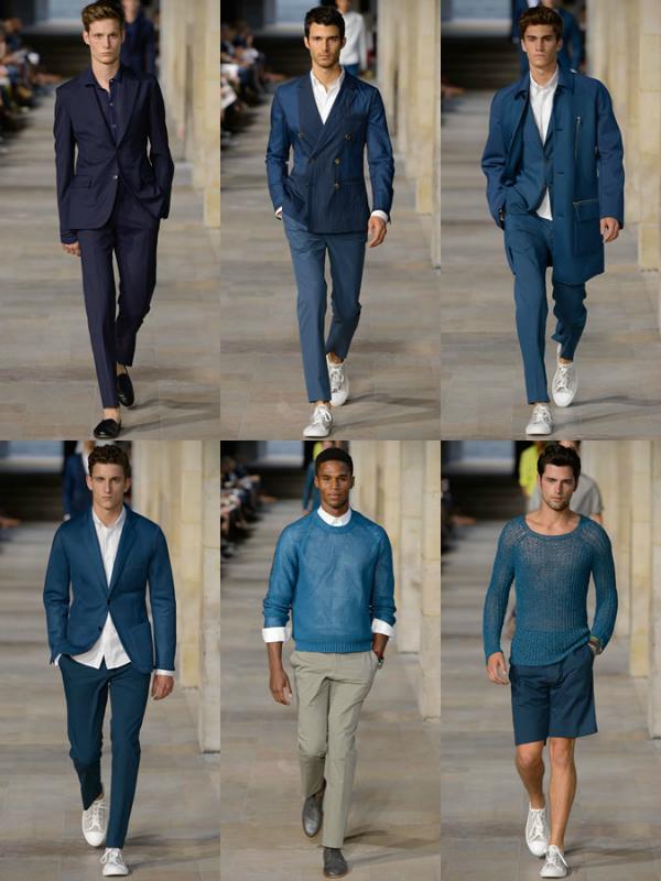Plava na pisti Muška moda: Sve nijanse plave