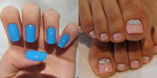 Plavo roze nokti Zabavne kombinacije lakova za ovo proleće