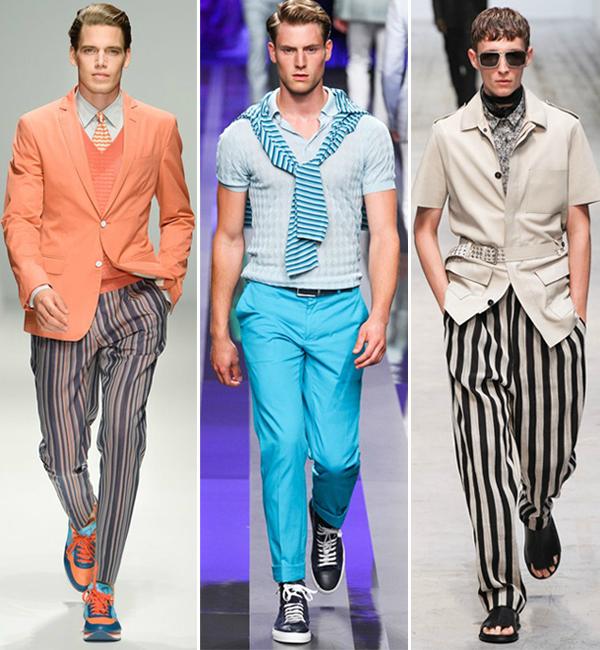 Pruge na pisti Muška moda: Pruge i prugice