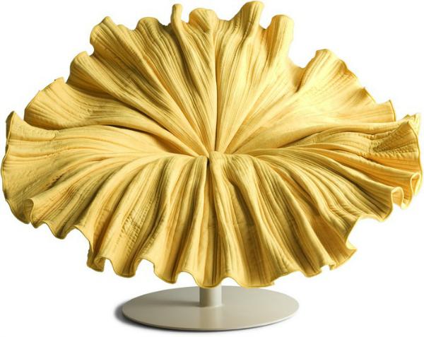 Rascvjetan stolac Žuta boja u enterijeru