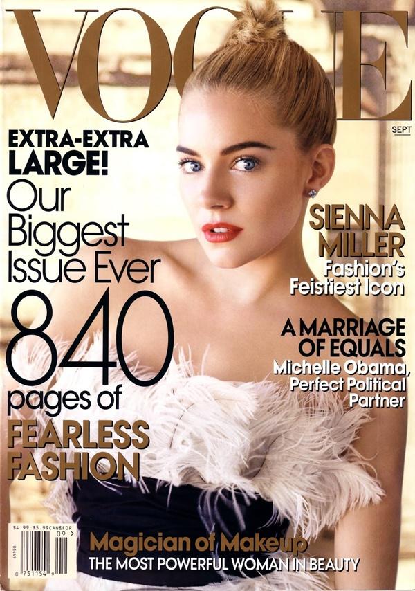Moda na naslovnici: Sienna Miller na naslovnici septembarskog izdanja